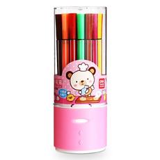 亚博足球app下载 7067 水彩笔24色桶装 彩色 水彩笔可水洗 儿童美术用品