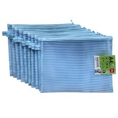 新品亚博足球app下载5527网布透气收纳袋A4文件袋资料袋网格袋蓝色310deli