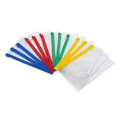 得力小透明拉链袋A5 5524 塑料袋 档案袋 文件包塑料办公用品