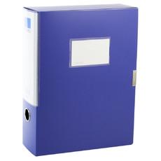 deli亚博足球app下载5684经济型商务蓝档案盒办公文具 4寸档案盒文件盒资料盒