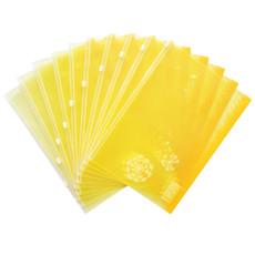 得力5580 抗菌彩色拉链袋 A4 韩版卡通拉边文件袋 得力文件袋一个