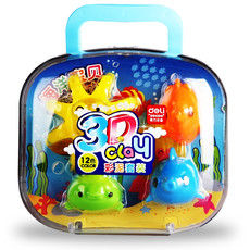 亚博足球app下载7049橡皮泥 12色彩泥 新一代3D彩泥(海洋宝贝)橡皮泥