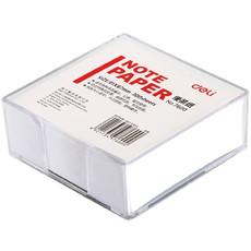 得力便签纸7600 带盒便条纸/记事白纸 规格91*87mm/300张官方正品