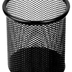 亚博足球app下载9172笔筒网状圆笔筒金属网纹圆形笔筒办公笔筒