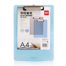 亚博足球app下载书写板夹9256 A4塑料透明板夹 Deli写字垫板 文件板夹 垫字板