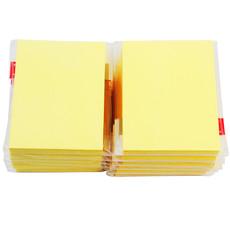 得力办公用品7734百事贴N次备忘贴76*101mm纯木浆纸黏贴不留胶