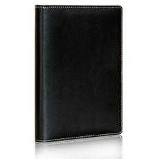 得力7930皮商务面活页笔记本 A5日记本 记事本 办公用品简约时尚