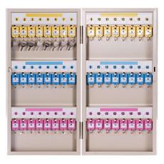 亚博足球app下载9323彩色 钥匙柜子管理箱48位可壁挂铝合金材质牢固耐用