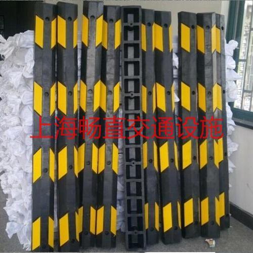 上海2米长橡胶挡车器 2米长挡轮器 2米长挡车杆  橡胶阻车器  车辆定位挡车杆
