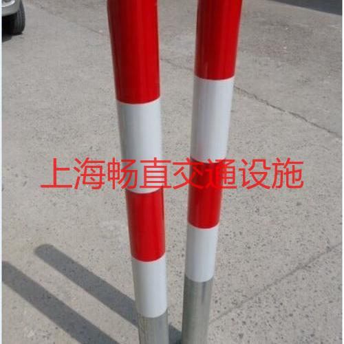 上海钢管分道柱 钢管警示柱 地下预埋警示柱 苏州反光防撞柱  警示桩