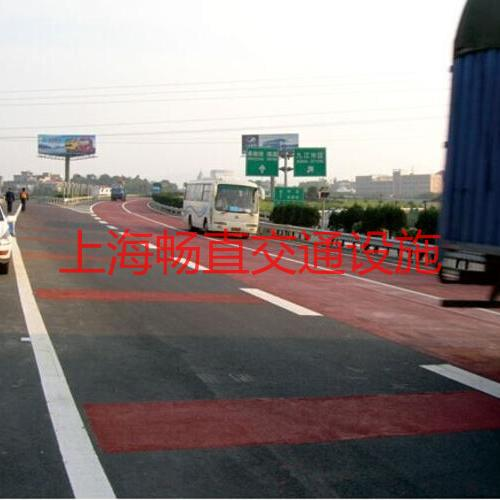 上海热熔道路划线  蓝色 红色 绿色 黑色 黄色标线 车道道路标线施工设计