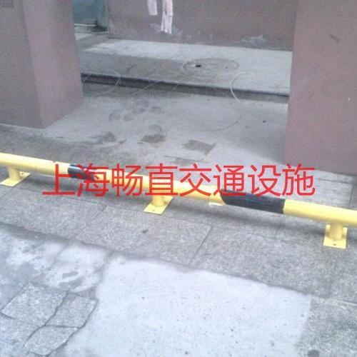 上海钢管挡车杆 三个腿2米钢管挡车器 车位挡轮杆 车轮档杆 车位挡车杆