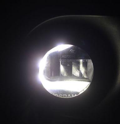 JEEP大切诺基改灯上海蓝精灵连锁实体店改装欧司朗LED多功能雾灯日行灯苏州改灯南通专业改灯
