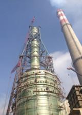 大型玻璃鋼塔制作現場