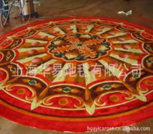 高档定制特殊规格圆形手工羊毛地毯酒店工程满铺地毯贵宾厅地毯