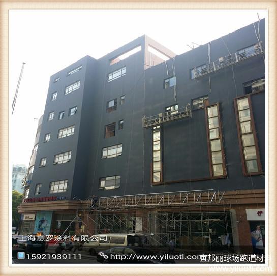 上海吴中路全季酒店外墙真石漆翻新