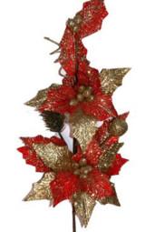 红色仿真圣诞花