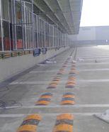 德邦物流货车倒车橡胶减速板 上海橡胶减速带 限位定位器