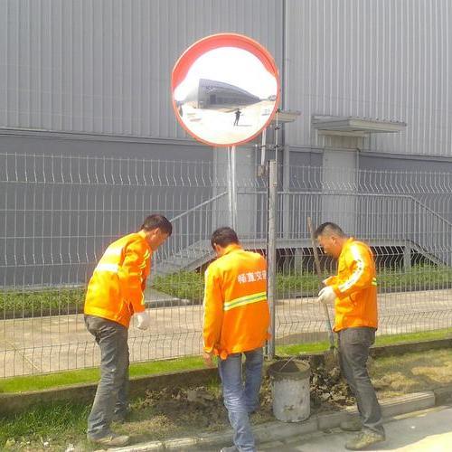 路口转角镜安装  上海转弯镜 凸面镜 凹凸镜 道路反光镜价格