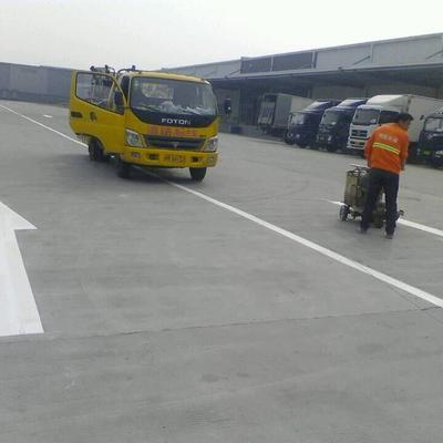 昆山安博中国园热熔道路划线 厂区地面划线