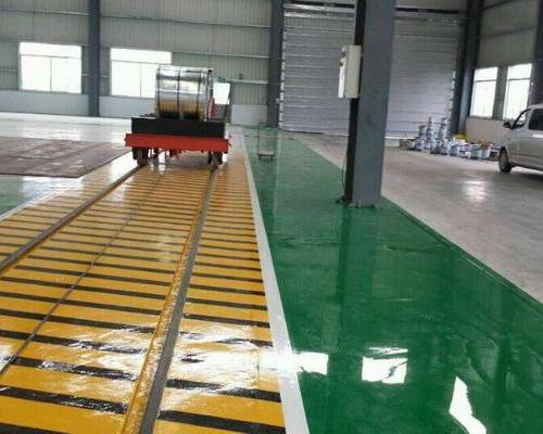 上海造船厂自流平环氧地坪 砂浆环氧地坪 通道地坪划线