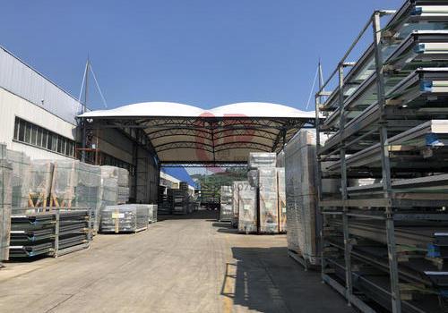 【奥鼎】广东广州江河幕墙公司东门膜结构工程 面积1785平方米