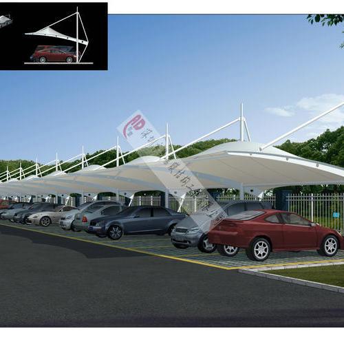 【奥鼎】广州民航监督管理局车棚和走廊膜结构工程