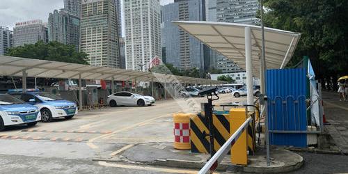 深圳市福田充电桩雨棚膜结构工程