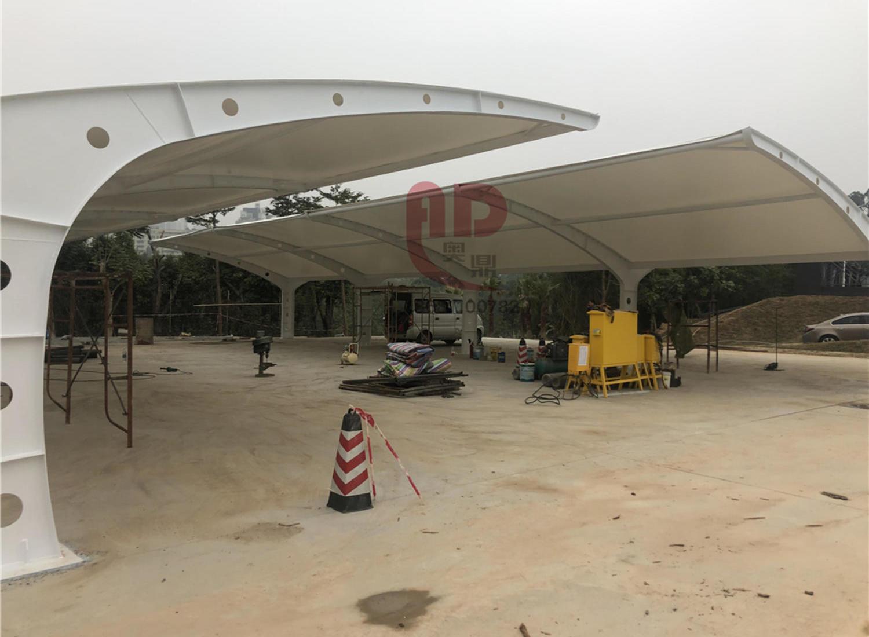 【奥鼎】深圳观澜高速二十冶项目部车棚膜结构工程