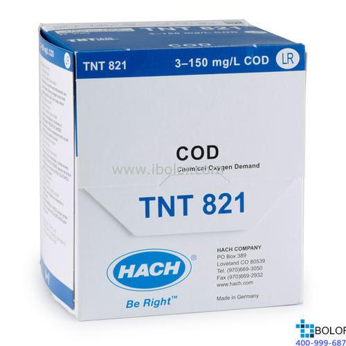 TNT82106 COD预制试剂 3-150mg/L 150支 带条形码 13mm HACH/哈希