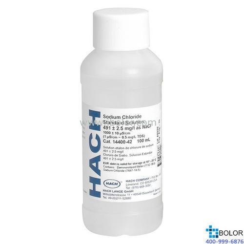 电导率标准液,哈希 电导率标准液,180 µS/cm(85.47mg/L NaCl),100mL装 2307542