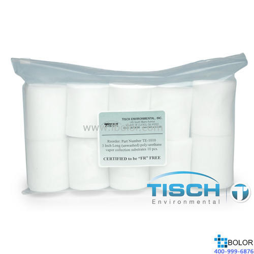 2.5*3 ln. 聚氨酯泡沫 PUF Tisch进口产品,采集二噁英、多氯联苯、多环芳烃