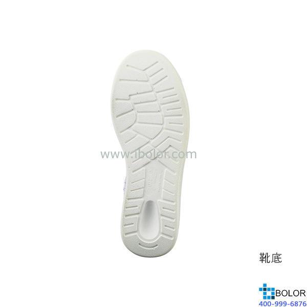 无尘靴 (带拉链・长型) 尺寸(cm) 24.5 PU底,人造皮革面
