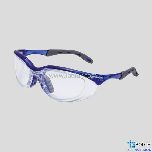 JIS防护眼镜 (弹性镜框) 颜色:橙色