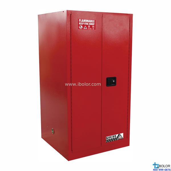 红色安全柜 可燃液体防火安全柜 60 Gal/227L 双门自动门 SCS060R
