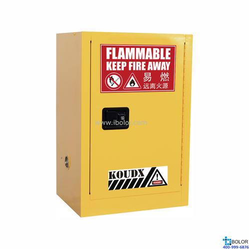 黄色安全柜 易燃液体防火安全柜 12 Gal/45L 手动门 SCM012Y