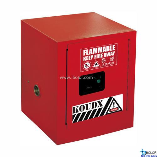 红色安全柜 可燃液体防火安全柜 10 Gal/38L 单门自动门 SCS010R