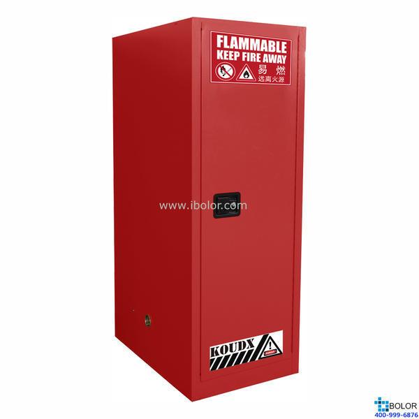 红色安全柜 可燃液体防火安全柜 54 Gal/204L 单门自动门 SCS054R