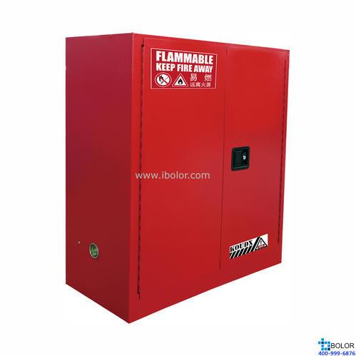 红色安全柜 可燃液体防火安全柜 30 Gal/114L 双门手动门 SCM030R