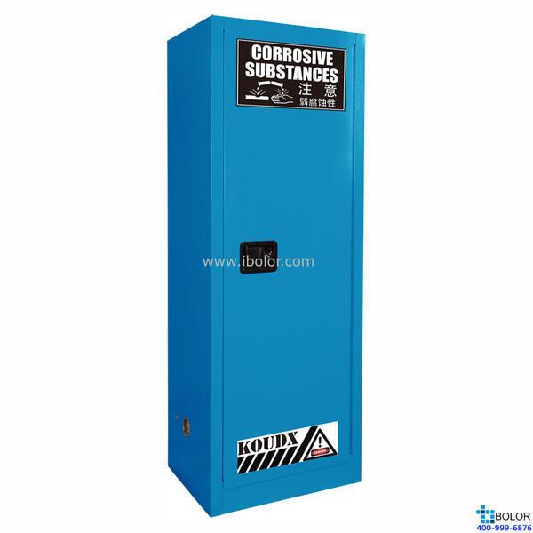 蓝色安全柜 弱腐蚀性液体防火安全柜 22 Gal/83L 单门 自动门 SCS022B