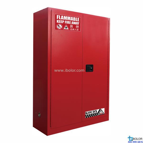 红色安全柜 可燃液体防火安全柜 45 Gal/170L 双门 自动门 SCS045R
