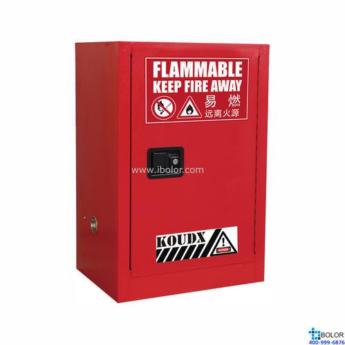 紅色安全柜 可燃液體防火安全柜 12 Gal/45L 單門手動門 SCM012R