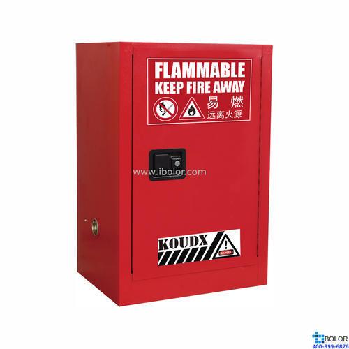 红色安全柜 可燃液体防火安全柜 12 Gal/45L 单门自动门 SCS012R