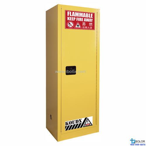 黃色安全柜 易燃液體防火安全柜 22 Gal/83L 手動門 SCM022Y