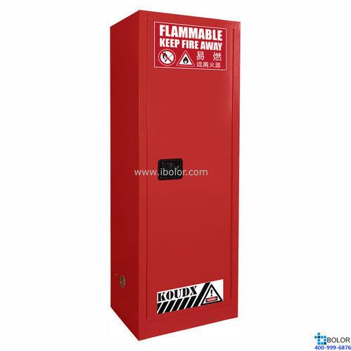 紅色安全柜 可燃液體防火安全柜 22 Gal/83L 單門手動門 SCM022R