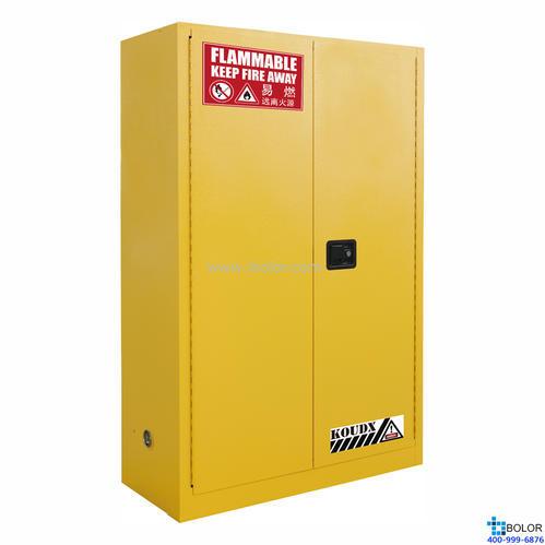 黃色安全柜 易燃液體防火安全柜 45 Gal/170L 雙門 手動門 SCM045Y