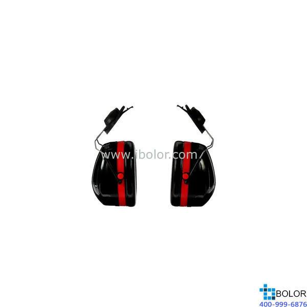 3M 掛帽式耳罩,H10P3E,PELTOR OPTIME 105系列 紅黑