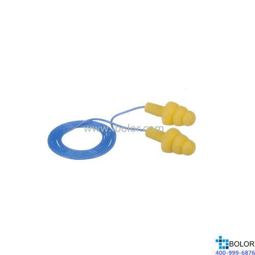 3M 可重復使用耳塞,340-4004,Ultrafit 圣誕樹型硅膠材質 帶線,1副(大包裝MAD507)