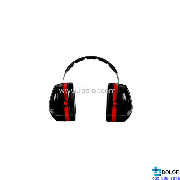 3M 頭戴式耳罩,H10A,PELTOR OPTIME 105系列 紅黑