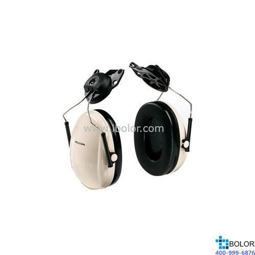 3M 挂帽式耳罩,H6P3E,PELTOR OPTIME 95系列 白黑